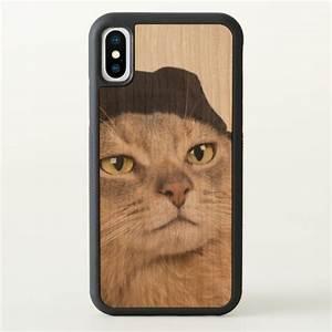 Abyssinian Cool Cap Cat iPhone X Case