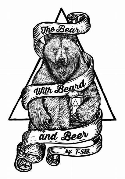 Bear Beer Beard Tatuajes Osos Oso Oscar