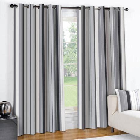 striped eyelet lined curtains black grey tonys textiles