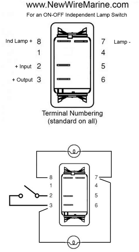 Carling Rocker Switch Independent Lamp Wiring Diagram