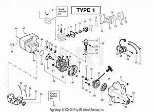 Poulan Xt400 Gas Trimmer Type 1 Parts Diagram For Engine Assembly Type 1