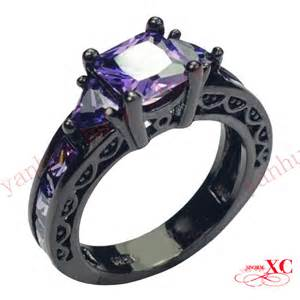 black and purple wedding rings popular purple engagement ring from china best selling purple engagement ring suppliers aliexpress