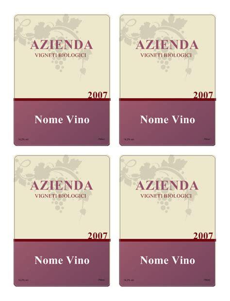 etichette vino personalizzate
