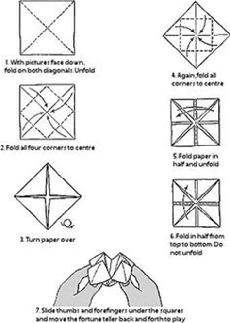 paper fortune teller template printable www