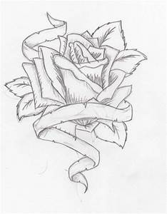 Photos: Heart Drawings With Roses And Ribbon, - DRAWING ...