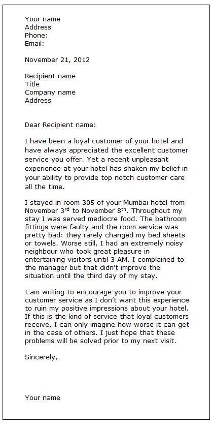 ideas  writing  letter  complaint ks