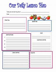 Preschool daily lesson plan template crafts pinterest for Daily lesson plan template for preschool