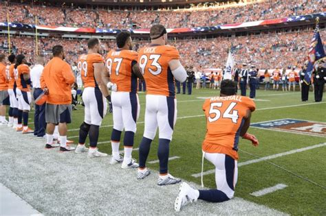 reactions  brandon marshalls protest  national anthem