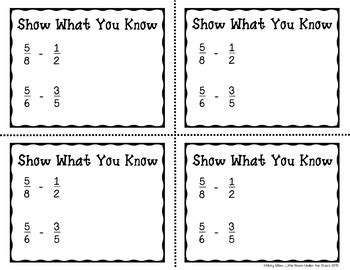 Subtracting Fractions Uncommon Denominators Don't Get Zapped Math Game
