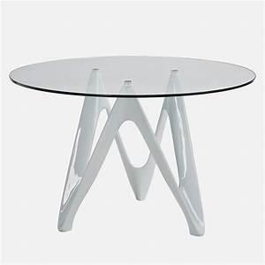 Runder Tisch Weiß : vr24 runder tisch aus harz mit glasplatte durchmesser ~ Whattoseeinmadrid.com Haus und Dekorationen
