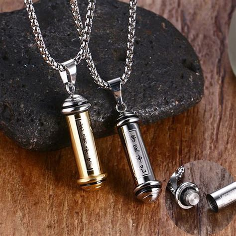 prayer scripture tube perfume bottle pendant necklace