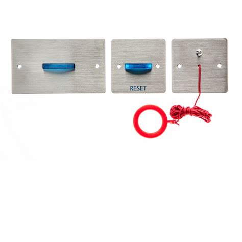 channel safety systems n hark stainless steel disabled toilet alarm kit with battery back up