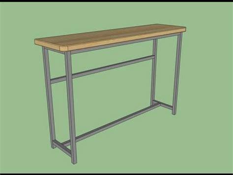table 60x60 cuisine création table bar ou service cuisine