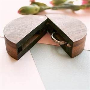 Round wooden ring box ring box wedding ring holder for for Wedding ring holder box