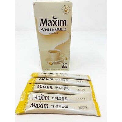 Posted by nellie muller on 21st oct 2019. Korean Maxim White Gold Instant Coffee Mix 20 Sticks | eBay