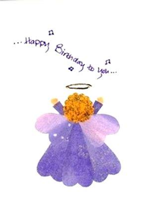 original fabric hearts angel birthday greeting card