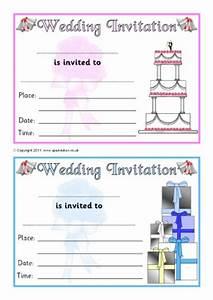 Invitation writing frames and printable page borders ks1 for Wedding invitation templates ks1