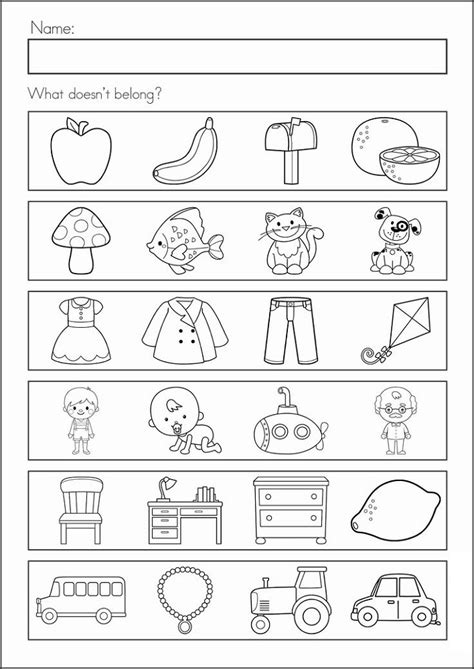 Prep Class Worksheets For Assessment  Learning Printable
