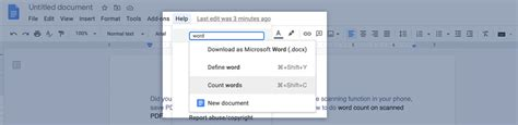 How to Check the Word Count in Google Docs? Read in Word ...
