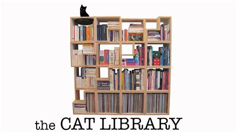 The Cat Library, A Modular Bookshelf For Cats & Books