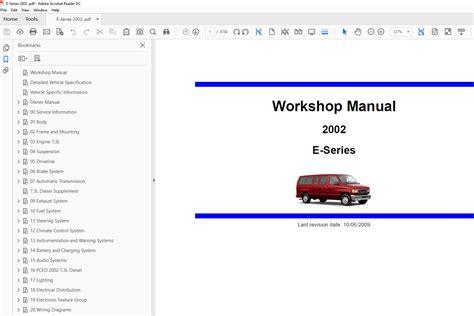 ford  series   factory repair manual