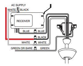 wiring    wire  ceiling fan remote