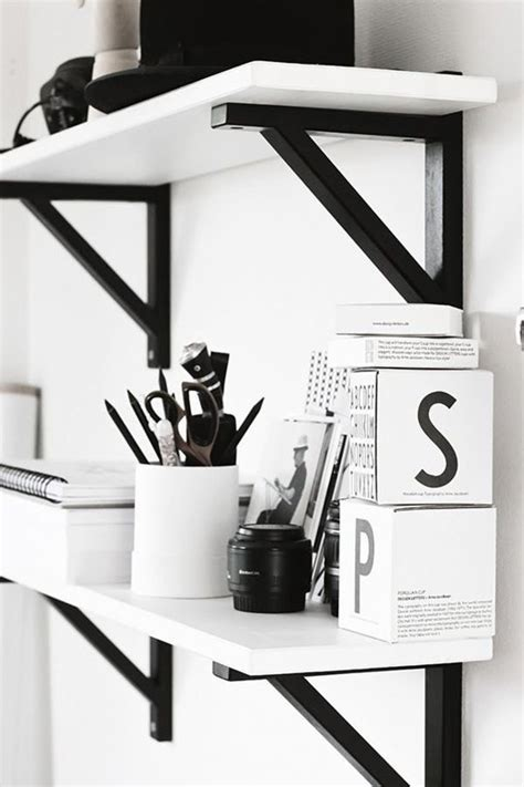 Black Corbels by Black And White Workspaces Homey Oh My
