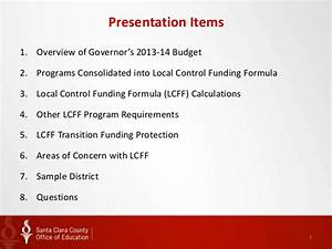 Local Control Funding Formula 101 presentation by the ...