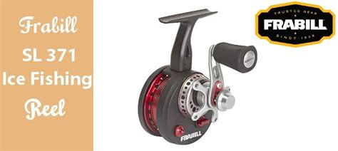frabill straight   ice fishing reel review