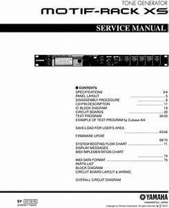 Yamaha Motif Rack Xs Complete Service Repair Manual