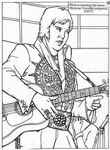 Elvis Coloring Pages Presley Colouring Printable Rock Roll Adult Rockabilly King Memphis Sheets Country Suit Sundial August Graceland Books Tennessee sketch template