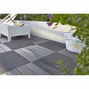 dalle composite kyoto l50 x l50 cm x ep50 mm leroy With dalle terrasse composite 50x50