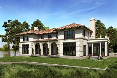 Plans Mediterranean Villa House Italian French Style