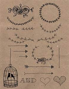 rustic diy hand drawn wedding invitation clipart by With diy wedding invitations graphics