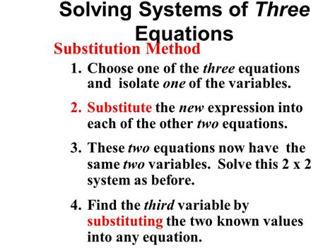 Solving Systems Of Equations Algebraically  Ppt Video Online Download