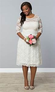 for the more casual bride opt for our plus size aurora With plus size short lace wedding dresses