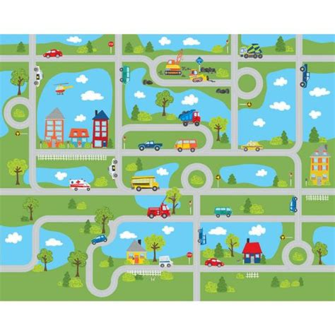 wall pops road map mural wpm  home depot