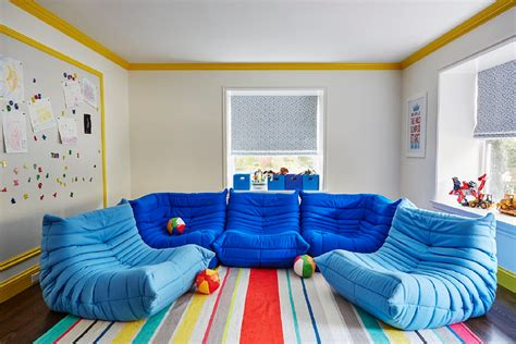 playroom with ligne roset togo fireside chairs contemporary boy 39 s room