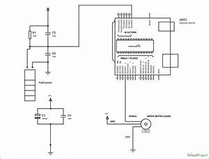 Servo Motor Control By Flex Sensor Using Arduino