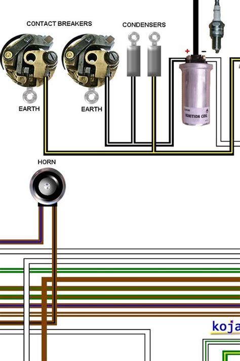 bsa a50 a65 1967 1968 colour motorcycle wiring diagram