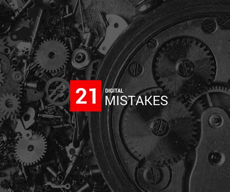 21 Digital Mistakes Sme Make And How To Avoid Them