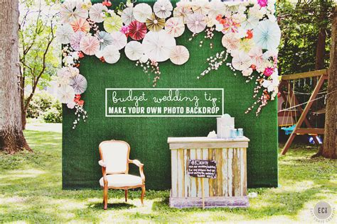 diy photo booth backdrop knock   wedding