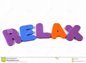 relax stock photo image 43347619 With relax letters