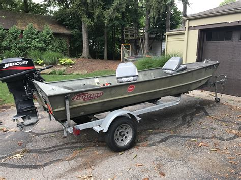 Aluminum Boats With Tunnel Hull by 15 Landau Tunnel Hull Boat 25hp With Trailer Michigan