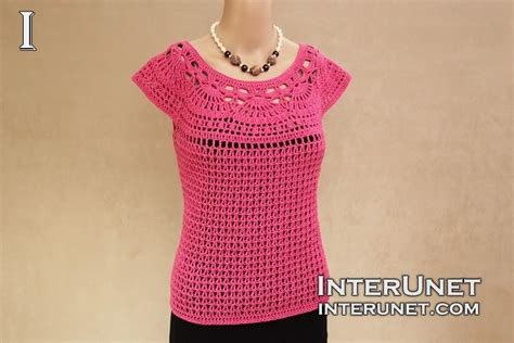 pink camellia blouse crochet pattern interunet