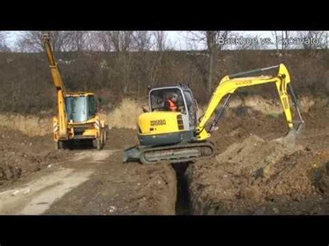 backhoe  excavator youtube