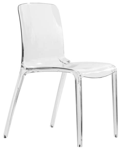 leisuremod murray clear modern dining chair contemporary