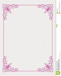 Pink Frame Design stock vector. Image of floral ...