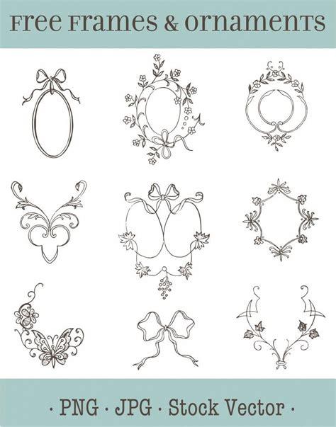 vector art vintage wedding frames clipart