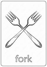 Fork Coloring Printable Pdf Coloringoo Colouring sketch template